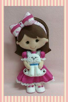 Doll Crafts, Sewing Crafts, Baby Sewing Projects, Felt Decorations, Felt Dolls, Felt Art, Felt Christmas, Felt Ornaments, Felt Animals