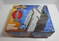 3D Puzzle Empire State Building Milton Bradley Puzz3D 300 Pieces 30 Inches #MiltonBradley