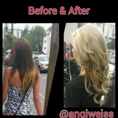 Color, Cut, & Style by @Angi Weiss 734-846-2530 at Attitudes Salon In Monroe, MI #beforeandafter #transformation #blondeshavemorefun #sexyhair @Sexy Hair #bigsexyhair #colorcorrection