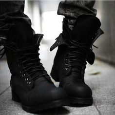 Men shoes Retro Punk Combat Winter Men's boots England-style Casual shoes --free shipping