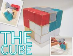 Stocking stuffer - cubes from a craft place, plus glue, the idea, and paint.  So simple! My grandparents had this. I loved it!
