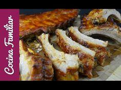Costilla asada con salsa Barbacoa Carne Asada, Salsa Barbacoa, Tapas, Bacon, Sandwiches, Bbq, Breakfast, Videos, Food