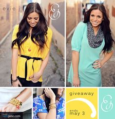 Giveaway at Evie J Boutique!!  Veryjane.com