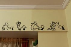 Calvin and Hobbes wall border..