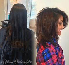 Znalezione obrazy dla zapytania cieniowane włosy średniej długości