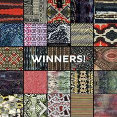 Winners of design challenge 'Homespun Wisdom' from Front Row Society. #textiledesign #scarves #katiaolivera
