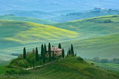 Tuscany, Belvedere' is seen from hill near town of San Quirco d'Orcia