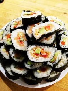 #homemade #sushi  Have you ever tried to prepare a sushi 🍣? I did. And i can admit it was good 🙏😊 have a good day 🍉