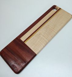 Padauk and Curly Maple Bread/Cheese Board by HartmanWoodworks on Etsy
