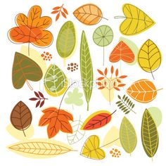 autumn leaves Royalty Free Stock Vector Art Illustration