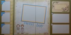 A sweet page for your sweet boy at www.sugarandspicescrapbooks.com