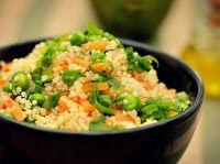 Quinoa com Ervilha e Cenoura (vegana)