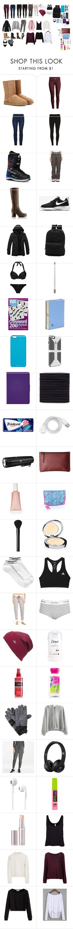 """""""Montana list"""" by izzybellah-1 on Polyvore featuring UGG Australia, Dorothy Perkins, Vans, SOREL, NIKE, Chapstick, Olympia Le-Tan, Chaos, scunci and FOSSIL"""
