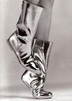 Courrèges boots by Greg Kadel for Vogue Paris.