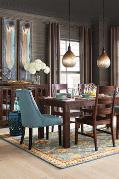 With balanced proportions and straightforward lines, Pier 1's Parsons Dining Collection mixes well with traditional or modern pieces. That's why this style has remained popular for so long! Try mixing the pieces with our Corinne Linen Cornflower Dining Chairs for a truly distinctive look (pieces sold separately).