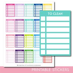 To clean stackable stickers, To clean checklist stickers, To clean stickers, To clean planner stickers, To clean full box, STI-291