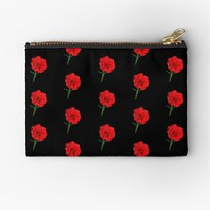 Framed Prints, Canvas Prints, Art Prints, Red Carnation, Carnations, Laptop Skin, Zipper Pouch, Glossier Stickers, Coin Purse