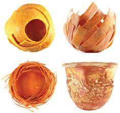 Cuatro de los recipientes comestibles de Diane Leclair Bisson