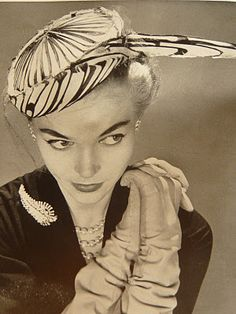 Lovely hats from Paris  http://lostin1950.blogspot.com/