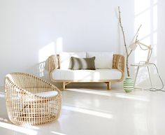 Nest by Cane-line | Sofa | Lounge chair | Big | Big with glass ..