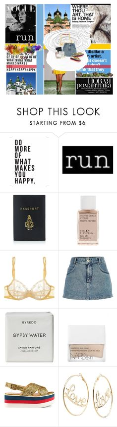 """yesterday"" by katykitty5397 ❤ liked on Polyvore featuring Native State, Anna K, Seletti, Mark Cross, Korres, La Perla, River Island, Byredo, NARS Cosmetics and Gucci"
