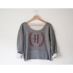 Hogwarts School of Witchcraft Wizardry Athletic Crop Sweatshirt ($50) ❤ liked on Polyvore featuring tops, hoodies, sweatshirts, harry potter, sweat shirts, sweatshirts hoodies, crop top, sweat tops and sweatshirt crop top