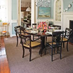 Try a Round Table - Stylish Dining Room Decorating Ideas - Southern Living