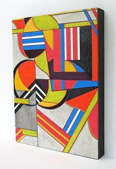 "Release by Michele A Caron gesso, lettering enamel, acrylic & ink ~ 16"" x 12"""