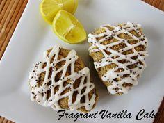 Fragrant Vanilla Cake: Raw Lemon Chia Seed Scones