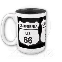 California US 66 Sign Mug
