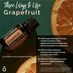 Grapefruit essential oil is known for its cleansing and purifying properties. It's frequently used with skincare because of its ability to promote the appearance of clear, healthy-looking skin. This is one you'll for sure want to add to your collection!
