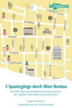 Der 7er Plan erzählt in fünf Walks durch den Bezirk Spannendes zu verschiedenen Themen wie Architektur, Geschichte und vieles mehr. Für alle Architekturfans lädt ein lustiges Fassadenratespiel zum Spazieren durch den Bezirk ein. Mit dem 7er Plan kann man das Grätzel und seine Geschichte auf eigene Faust entdecken.  Hol dir den gratis Download hier oder die Printversion in einem der Shops in der Westbahnstraße, Neubaugasse oder Kaiserstraße.  #im7ten #neubau #wien #stadtspaziergang Gratis Download, Planer, Shops, Map, Blog, New Pins, City Life, New Construction, Tourism