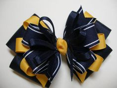 Large Back to School Hair Bow Toddler to Big Girl by HareBizBows