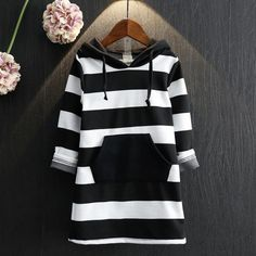 Striped Children Clothing Winter Autumn New Long Sleeve Girls Dresses Cotton Hooded Girls Clothes Toddlers Kids Dresses $13.60   => Save up to 60% and Free Shipping => Order Now! #fashion #woman #shop #diy  http://www.uniquebaby.net/product/striped-children-clothing-winter-autumn-2016-new-long-sleeve-girls-dresses-cotton-hooded-girls-clothes-toddlers-kids-dresses/