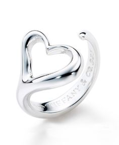 Tiffany & Co Outlet Elsa Peretti Open Heart Ring Love this!