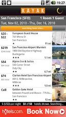 Kayak: Compare flights, hotels and rental cars, track flights, get cheap travel deals.  Everything KAYAK, right on your phone  - Compare flight, hotel and car rental deals   - Track your flight status  - View and manage your trip itinerary   - Look up baggage fees  - Access airline numbers and airport info