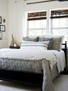 Beach House Decorating   Nautical Home Interiors: Bedroom Ideas   http://nauticalcottageblog.com