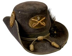 Pattern 1858 2nd Cavalry Officer's Hat Fully Trimmed