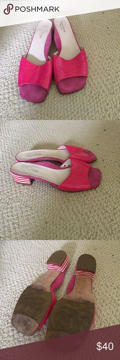 Taryn Rose Pink Patent Sandals Gently used-1.5 inch heel Taryn Rose Shoes