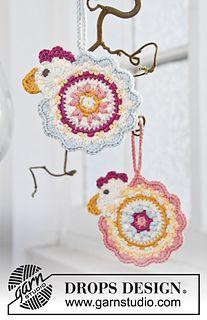 "DROPS Easter: Crochet DROPS Easter chicken in ""Safran"""