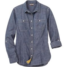 Our classic Free Range Chambray Button Down Shirt has the breathable ease and functional features you need to make easy work of any job.