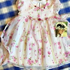 9e55843cc Details about NWT $20 The Children's Place Infant Baby Girl Dress  (6-9-12-18M) White, Pink