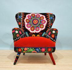 Suzani armchair  orange sun di namedesignstudio su Etsy, $1600.00