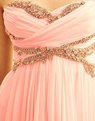 Sparkly pink dress with detail like this