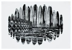 Motoko Dobashi, cave #6, 2011, lithography, measures: 61,0 x 90,0 cm, paper: BFK Rives 270g, edition: 1-15/15, price: 360 €