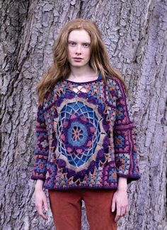 """Granny Square & Motif Sweater""...Great!                              …"