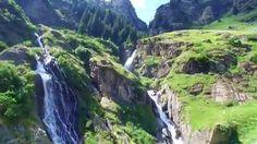 Adlerflug von Aschbach bis weit hinter den Partschinser Wasserfall ins t...