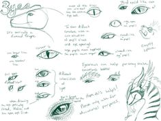 Well here's the first part to my 3 part Dragon tutorial. Hope this helps whoever needs it. Dragon tutorial Part I Dragon Eye Drawing, Dragon Art, Dragon Wing, Dragon Head, Drawing Tips, Drawing Reference, Animal Drawings, My Drawings, Dragon Anatomy