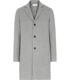 Mens Grey Bluff Detail Epsom Coat - Reiss Genesis