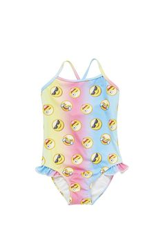 Clothing at Tesco | F&F Emoji Swimsuit > swimwear > Swimwear > Kids